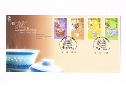 Hong Kong - Tea Culture - Official Souvenir Cover - YVERT 985/988 - 2001 - Altri