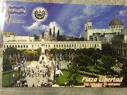 Circulated Postcard El Salvador 2012 Building  , ( Firefighters Stamps ) - Salvador