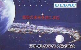 Télécarte Japon *  ESPACE (1004)  GLOBE * SATELLITE * TERRESTRE * MAPPEMONDE Telefonkarte Phonecard JAPAN - Espace