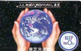 Télécarte Japon *  ESPACE (1006)  GLOBE * SATELLITE * TERRESTRE * MAPPEMONDE Telefonkarte Phonecard JAPAN - Espace