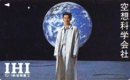 Télécarte Japon *  ESPACE (1009)  GLOBE * SATELLITE * TERRESTRE * MAPPEMONDE Telefonkarte Phonecard JAPAN - Espace