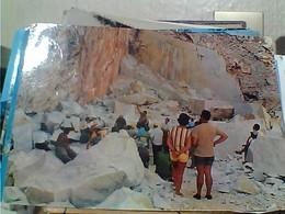 2 CARD CARRARA CAVE DI MARMO  OPERAI AL LAVORO  VB1966/69 GZ6739 - Carrara