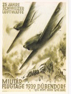 195428425 JAHRE SCHWEIZER LUFTWAFFE, Militär Flugtage 1939 Dübendorf. (REPRO) - Aviones