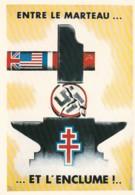 1954287Entre Le Marteau…et L'enclume !...''De Gaulle Sur Les Murs De France'' 13 (REPRO) - Guerra 1939-45