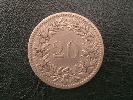 1887 Swiss 10 Rappen Coin - Scarce Fine - Switzerland