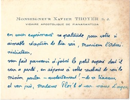 Document Historique Invitation Monseigneur THOYER FIANARANTSOA - Documenti Storici