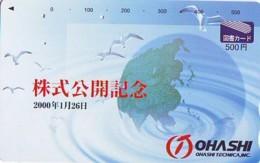 Carte Prépayée Japon * ESPACE (1019)  GLOBE * SATELLITE * TERRESTRE * MAPPEMONDE  Karte PREPAID CARD JAPAN - Espace
