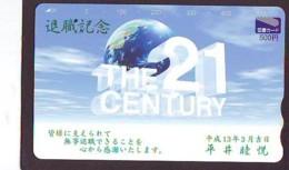 Carte Prépayée Japon * ESPACE (1022)  GLOBE * SATELLITE * TERRESTRE * MAPPEMONDE  Karte PREPAID CARD JAPAN - Espace