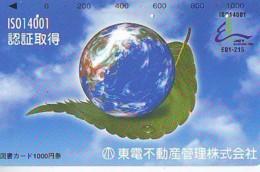 Carte Prépayée Japon * ESPACE (1024)  GLOBE * SATELLITE * TERRESTRE * MAPPEMONDE  Karte PREPAID CARD JAPAN - Espace