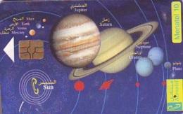 Carte Prépayée * ESPACE (1027)  GLOBE * SATELLITE * TERRESTRE * MAPPEMONDE  Karte PREPAID CARD - Espace