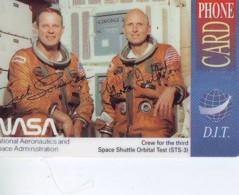 Carte Prépayée * ESPACE (1030) CREW FOR THE 3RD * GLOBE * SATELLITE * TERRESTRE * MAPPEMONDE  Karte PREPAID CARD - Espace