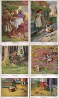 C0985 - Serie 6 X - O.  Kubel Künstlerkarte Märchen Märchenkarte Rotkäppchen - Brüder Grimm - FRG - Fiabe, Racconti Popolari & Leggende