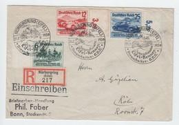 Deutsches Reich , Nürburgring Aufdrucksatz Als Einschreiben - Allemagne
