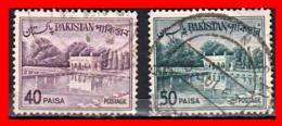 PAKISTAN 2 SELLOS AÑO 1961-63 - Pakistán