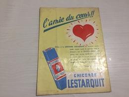 PROTÈGE CAHIER Ancien CHICORÉE LESTARQUIT AMIE DU CŒUR - Protège-cahiers