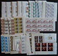 SAMMLUNGEN, LOTS Aus 1868-Bl. 47 **, 1976-78, Komplette Ausgaben Je 10x In Bogenteilen, Sowie Einige Blocks, Prachterhal - Belgique