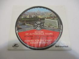 Carte Dépliant Touristique Ancien/ Français-Anglais-Allemand/Itinéraires Automobiles/Intourist/Expo Montréal 1967 DT34 - Tourism Brochures