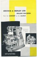 Adcock & Shipley Ltd - Milling Machines - Reclamefolder - Sciences & Technique