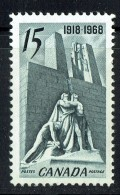 1968   Armistice Canadian Vimy Memorial  Sc 486  MNH - Unused Stamps