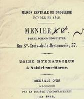 Région Paris. MAISON MENIER DROGUERIE Devenue CHOCOLATERIE SUPERBES BATIMENTS CONSERVES à Noisiel VOIR SCANS+HIST. - France