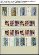 SAMMLUNGEN, LOTS **, 1969-81, Postfrische Sammlung Guernsey, Isle Of Man Und Jersey In 2 Neuwertigen Lindner Falzlosalbe - Grande-Bretagne