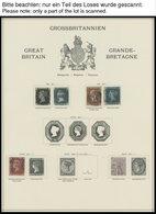 SAMMLUNGEN, LOTS O, Gestempelte Sammlung Großbritannien Von 1840-1950 Auf Schaubekseiten Mit Guten Mittleren Ausgaben, E - Grande-Bretagne