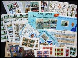 SAMMLUNGEN, LOTS Bl.,H-Bl.,KB O, 1979-86, Partie Verschiedener Blocks, Heftchenblätter Und Kleinbogen Von Guernsey, Isle - Grande-Bretagne