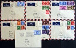 SAMMLUNGEN, LOTS 1956, 8 Briefe Mit Verschiedenen Frankaturen In Die Schweiz, Alle Mit Sonderstempel BRITISH INDUSTRIES  - Grande-Bretagne
