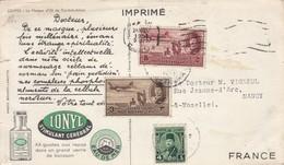 CARD EGYPT. 1951. IONYL STIMULANT CEREBRAL CAIRO TO FRANCE.  TUT-ANK-AMON /  3 - Francobolli