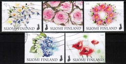 2018 Finland, Flowers, Complete Used Set. - Finlande