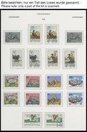SAMMLUNGEN **,o , Komplette Sammlung Liechtenstein Von 1986-96 (bis Auf 6 Werte) Im KA-BE Falzlosalbum, Zweifach Gesamme - Liechtenstein
