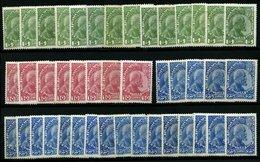 SAMMLUNGEN, LOTS 1-3x *, 1912, Fürst Johann II, Gestrichenes Papier, Nr. 1x (14x), 2x (8x) Und 3x (21x), Lot In Untersch - Liechtenstein