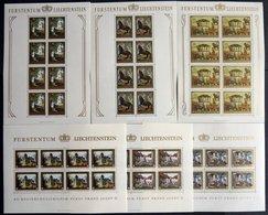 LOTS KB **, 1978/82, 11 Verschiedene Postfrische Kleinbogen: Mi.Nr. 706-09, 717-19, 791/2 Und 797/8, Pracht, Mi. 217.- - Liechtenstein