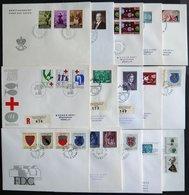 LOTS 1961-80, 103 Verschiedene FDC`s, Ab 1971 Komplett, Prachterhaltung, Mi. 500.- - Liechtenstein