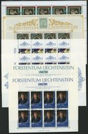 LOTS O, 1982-90, 5 Verschiedene Kleinbogen, Pracht, Mi. 124.- - Liechtenstein