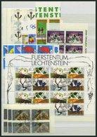 SAMMLUNGEN, LOTS 1079-95 VB O, 1994, 6 Komplette Ausgaben In Eckrandviererblocks, Pracht - Liechtenstein