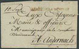 LUXEMBURG 1795, ARMEE DE LA MOSELLE, L1, Auf Brief Von RODEMACK Nach Andernach, Pracht - Luxembourg