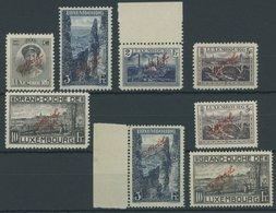 DIENSTMARKEN D 124-28A/B **, 1922/34, Officiel, Roter Aufdruck, Beide Zähnungen, Postfrischer Prachtsatz, Mi. 120.- - Service