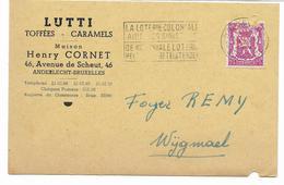 LUTTI  Carte Autorisation -perforé Perfin H.C. Sur Petit Sceau 75 C Rose (abimè Par Une Perforation De Classement)  Voir - Perforés