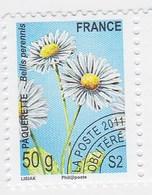France Service Préo Preoblitéré Fleur Paquerette 50g  Année 2011 YT N°262 - Vendu à La Faciale - Face Value - Mint/Hinged