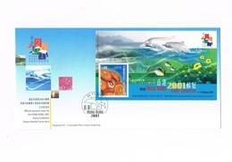 Hong Kong - Stamp Exibition 2001 - Official Souvenir Cover - YVERT 72B - Altri