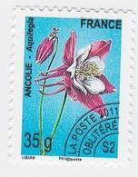 France Service Préo Preoblitéré Fleur Ancolie 35g  Année 2011 YT N°260 - Vendu à La Faciale - Face Value - Mint/Hinged