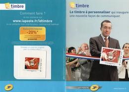 """Document Postal-  Créez Vos Timbres- Timbre: """" Bijou""""-- - France"""