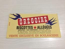 BUVARD Ancien BISCOTTES ALLÉGÉES GRÉGOIRE LEVALLOIS PERRET - Biscottes