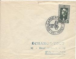 N° 283 Légion étrangère Oblitération Commémorative CAMERONE SIDI BEL ABBES 30 Avril 1950 Soldat Guerre - Algeria (1924-1962)