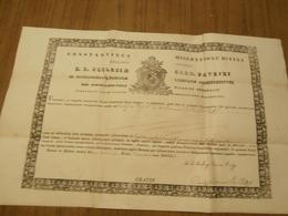 Religion,catholique, Certificat De Reliquaire,reliques De St Charles De Borromée,Constantinus Episcopus,,1857,C. Piquet - Religión & Esoterismo