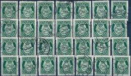 BK053 Lot Mit 28 Werten Norwegen Norge 20 Øre Öre, Gestempelt - Norwegen