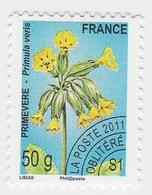 France Service Préo Preoblitéré Fleur Primevere 50g  Année 2011 YT N°261 - Vendu à La Faciale - Face Value - Mint/Hinged