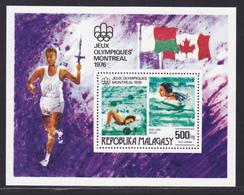 MADAGASCAR BLOC N°   10 ** MNH Neuf Sans Charnière, TB (CLR405) Jeux Olympiques à Montréal - 1976 - Madagascar (1960-...)