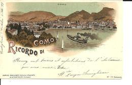 Ricordo Di COMO. CPA 1899. Voir Description - Como